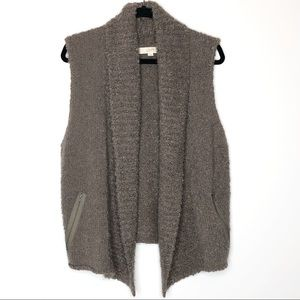 LOFT taupe brown nubby knit sweater vest | XL